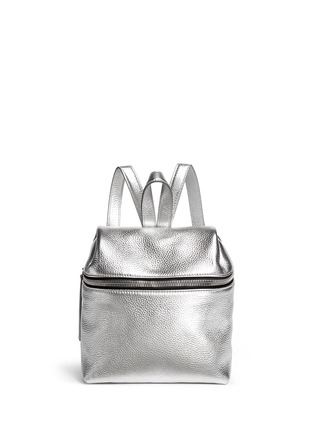 Main View - Click To Enlarge - Kara - Metallic small leather backpack