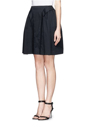 Front View - Click To Enlarge - McQ Alexander McQueen - Flare twill skirt