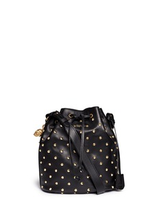 ALEXANDER MCQUEEN 'Padlock Secchiello' stud leather bucket bag