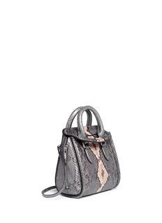 ALEXANDER MCQUEEN'Heroine' mini python leather satchel
