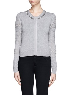 DIANE VON FURSTENBERG Donna' jewel neck cropped cardigan