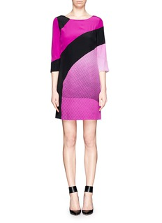 DIANE VON FURSTENBERG Sienna speckle wave print silk dress