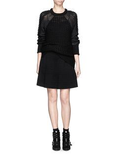 SANDRO'Jones' textured knit flare skirt