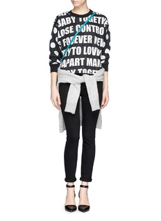 SANDRO'Thao' slogan intarsia sweater