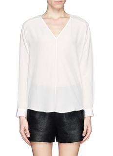 SANDRO V-neck silk shirt