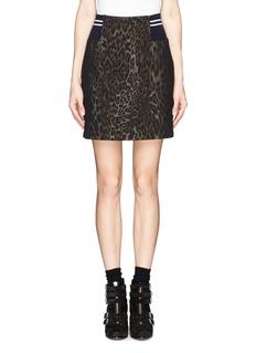 SANDROElastic side leopard print skirt