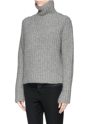 Front View - Click To Enlarge - Haider Ackermann - Wool-camel turtleneck sweater