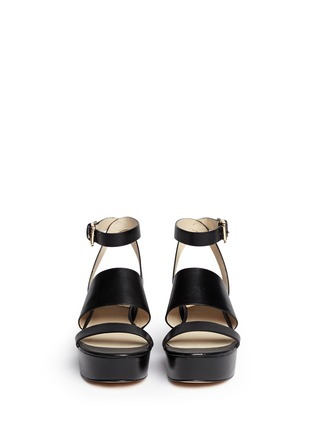 Figure View - Click To Enlarge - Michael Kors - 'Poesy' platform wedge leather sandals
