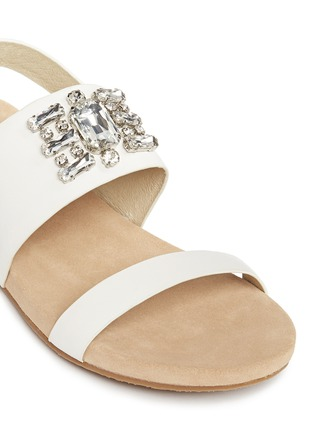 Detail View - Click To Enlarge - Michael Kors - 'Luna' leather flat sandals