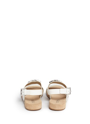 Back View - Click To Enlarge - Michael Kors - 'Luna' leather flat sandals