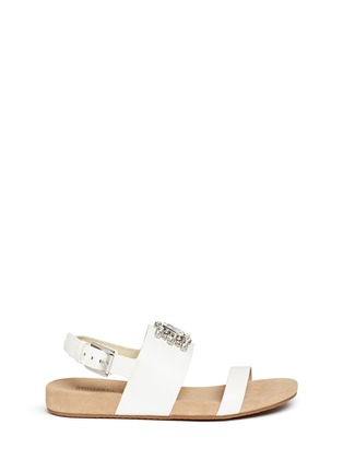 Main View - Click To Enlarge - Michael Kors - 'Luna' leather flat sandals