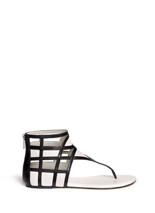 Main View - Click To Enlarge - Michael Kors - 'Jaida' cutout leather sandals
