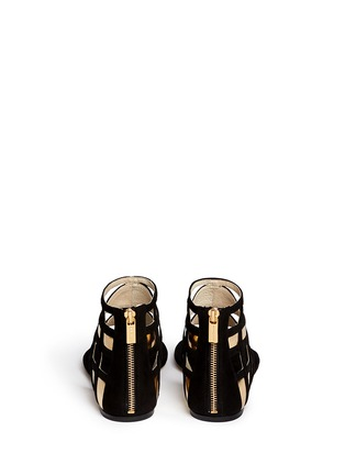 Back View - Click To Enlarge - Michael Kors - 'Jaida' cutout metallic leather sandals