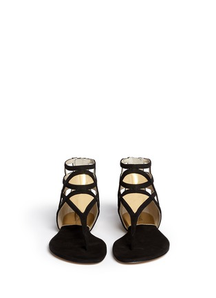 Figure View - Click To Enlarge - Michael Kors - 'Jaida' cutout metallic leather sandals