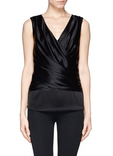 ST. JOHNRuche wrap front top