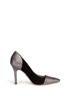 SAM EDELMAN'Desiree' metallic toe cap suede pumps