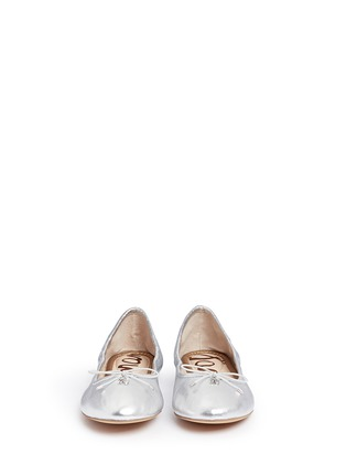 Front View - Click To Enlarge - Sam Edelman - 'Felicia' leather ballet flats