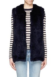 H BRAND'Primrose' rabbit fur knit gilet