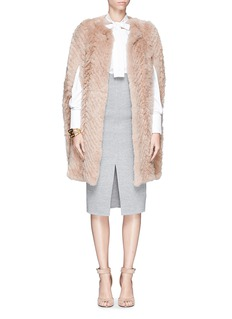 H BRAND'Maree' rabbit fur cape
