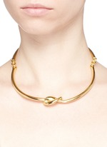 Metal knot torque necklace