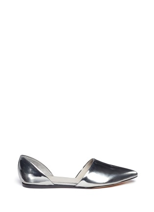 Main View - Click To Enlarge - Vince - Nina metallic leather d'Orsay flats
