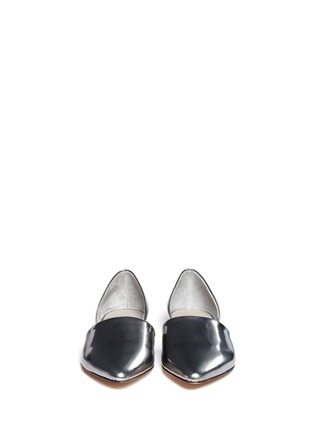 Figure View - Click To Enlarge - Vince - Nina metallic leather d'Orsay flats