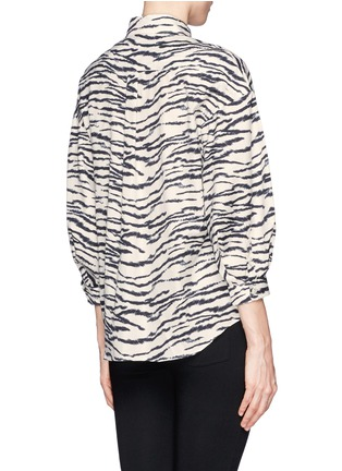 Back View - Click To Enlarge - TOGA ARCHIVES - Zebra print puff sleeve shirt