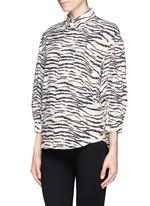 Zebra print puff sleeve shirt