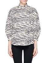 TOGA ARCHIVES Zebra print puff sleeve shirt