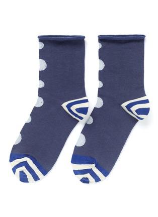Main View - Click To Enlarge - HANSEL FROM BASEL - Thumbprint crew socks
