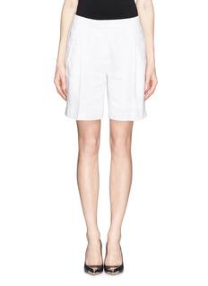 J. CREWCollection Bermuda shorts in Italian linen