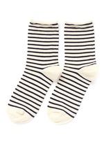 Nautical stripe crew socks