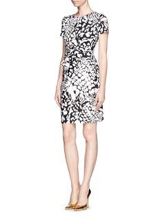 DIANE VON FURSTENBERG'Zoe' feather leopard print silk dress