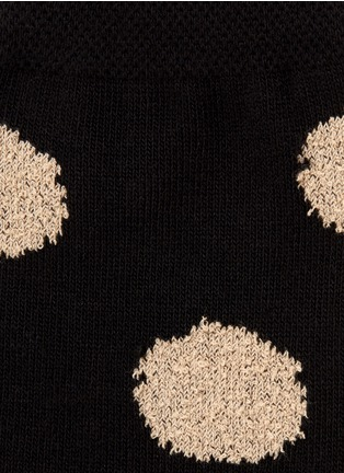 Detail View - Click To Enlarge - HANSEL FROM BASEL - Bouclé polka dot crew socks