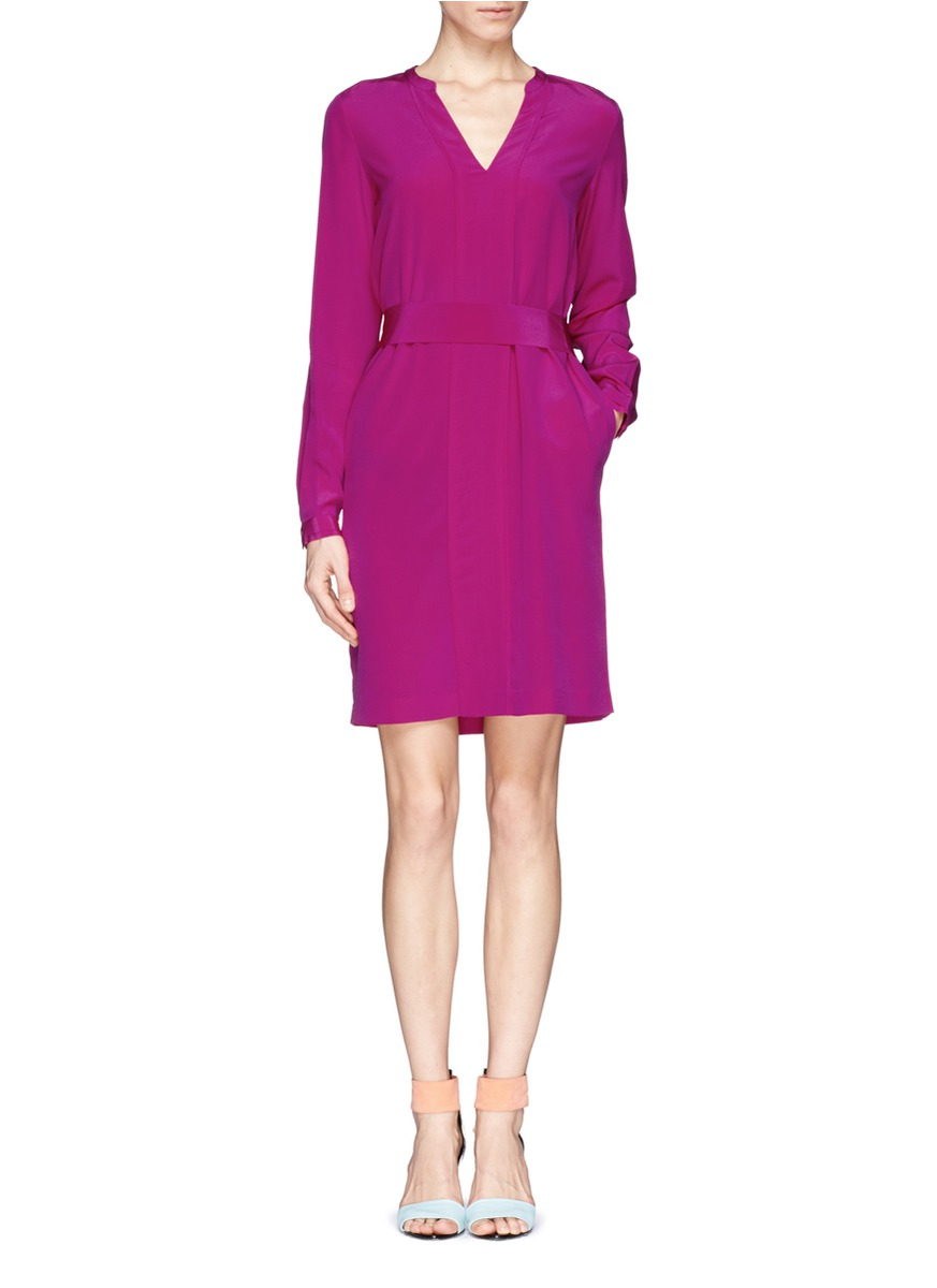 diane von furstenberg 39 hilary 39 silk dress on sale purple casual dresses womenswear. Black Bedroom Furniture Sets. Home Design Ideas