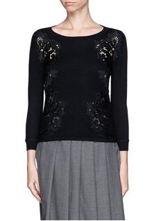 DIANE VON FURSTENBERG'Doreen' lace insert sweater