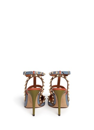 Back View - Click To Enlarge - Valentino - 'Rockstud' Italian Pop caged leather pumps