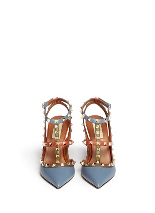 Figure View - Click To Enlarge - Valentino - 'Rockstud' Italian Pop caged leather pumps