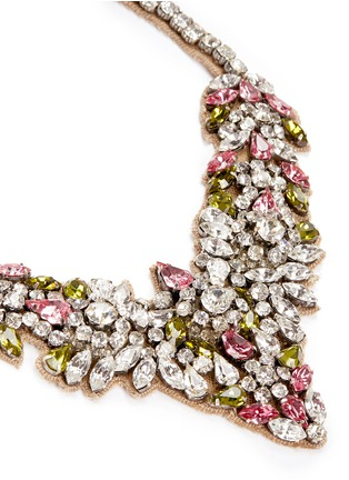 Detail View - Click To Enlarge - Valentino - Crystal flower necklace