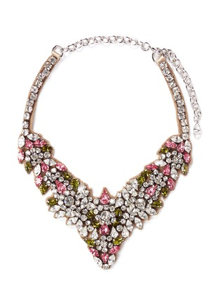 Main View - Click To Enlarge - Valentino - Crystal flower necklace