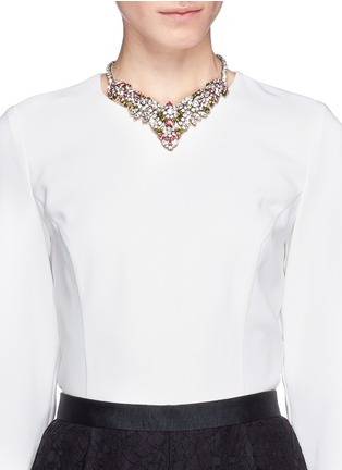 Figure View - Click To Enlarge - Valentino - Crystal flower necklace