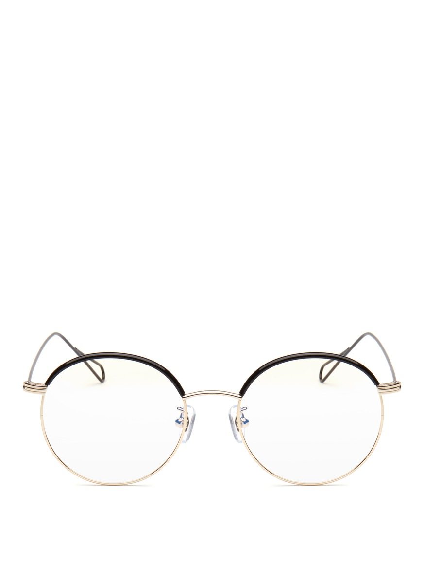 Milli 01 coated metal wire rim optical glasses by Stephane + Christian