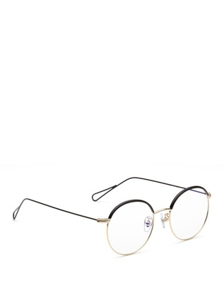 Figure View - Click To Enlarge - Stephane + Christian - 'Milli 01' coated metal wire rim optical glasses