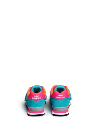 Back View - Click To Enlarge - New Balance - '574 Cut and Paste' colourblock suede kids sneakers