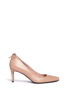 Stuart Weitzman 'Peekamid' bow leather pumps