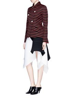 Proenza SchoulerAsymmetric hem pleated crepe skirt