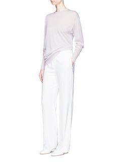 Calvin Klein Collection'Easo' sheer cashmere sweater