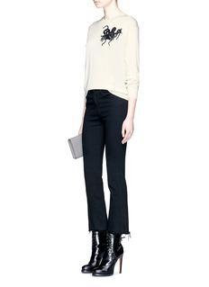Alexander McQueenOctopus appliqué cashmere-silk sweater