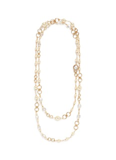 Miriam Haskell Beaded graduating glass pearl necklace