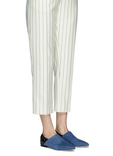 3.1 Phillip Lim 'Babouche' denim leather flats